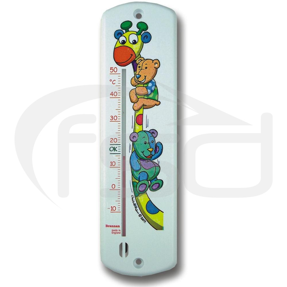 Giraffe and Bear Design Nursery Thermometer