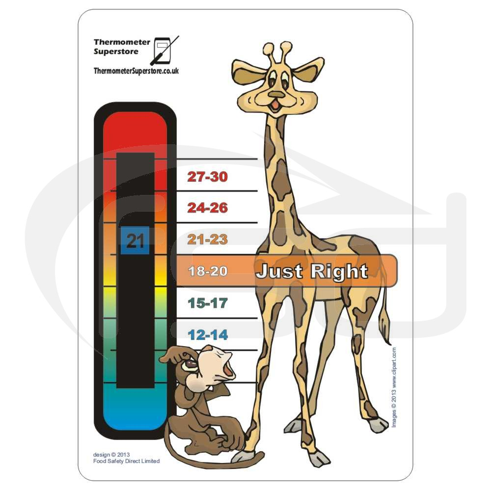 Giraffe Card Nursery Thermometer