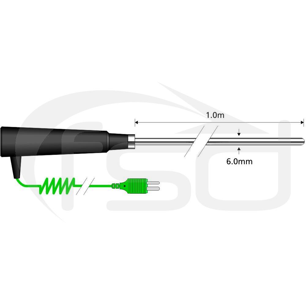 Comark Semi-Flexible Air Probe - Long Stem Very High Temperature (AK25M)