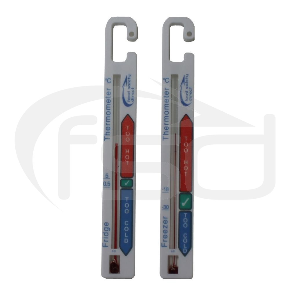 FSD Twin Pack Fridge and Freezer Thermometers