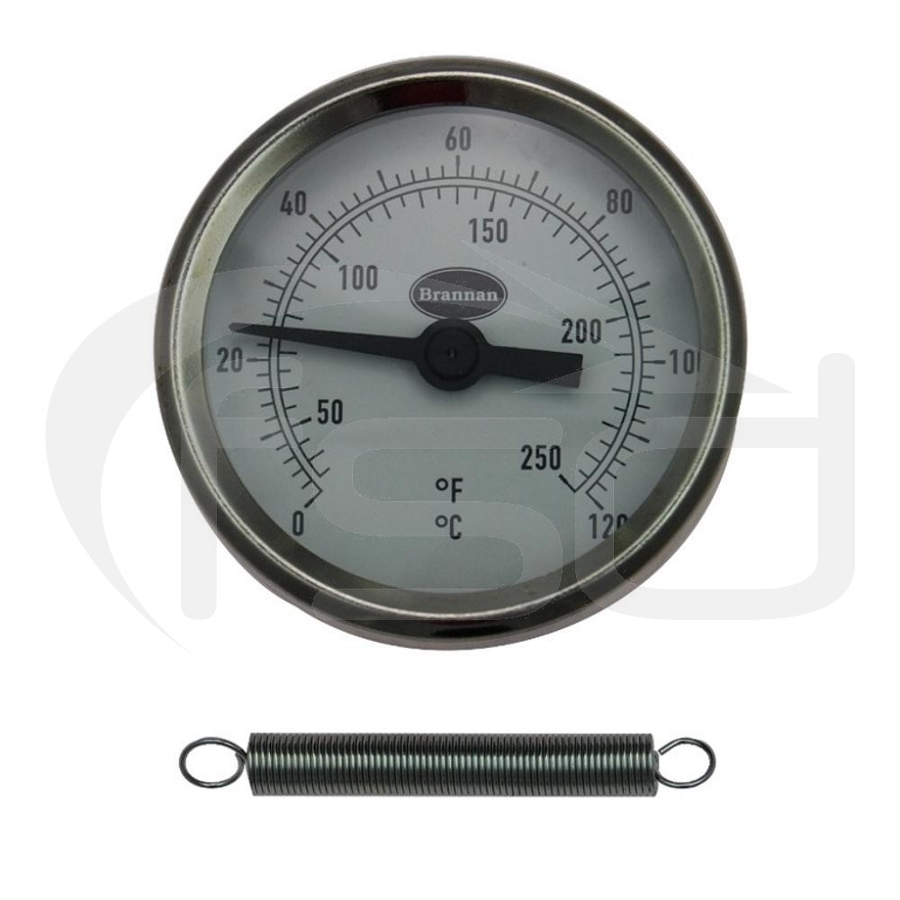 Clip On Pipe Thermometer with Spring 10 to 120C