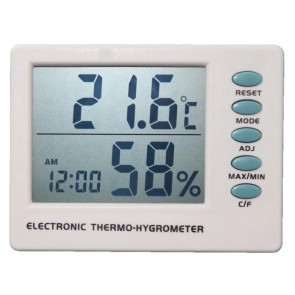 Thermometer Hygrometer and Clock