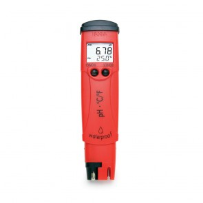 Hanna High Resolution Pocket pH Tester with Thermometer and +/- 0.01 pH Accuracy