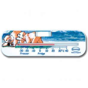 Polar Bear Design Fridge Freezer Thermometer