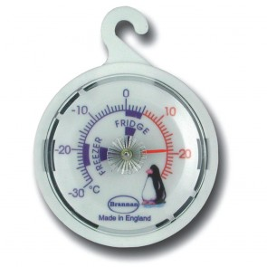 Fridge Freezer 65mm Dial Thermometer with Penguin Design
