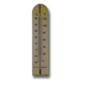 Brannan Wooden Spirit Wall Thermometer