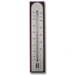 Wall Thermometer with Burgundy Case 200mm