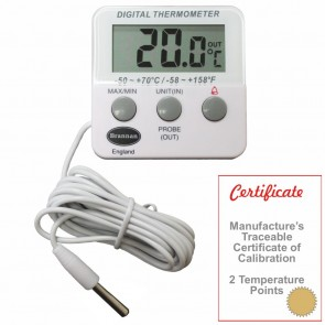 Thermo-Cert Calibrated Twin Reading Thermometer