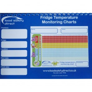Fridge Temperature Monitoring Charts Book (A4 Size)